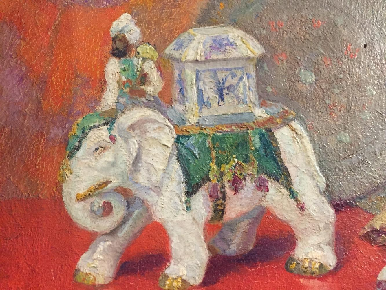 Stillife with statue of an elephant