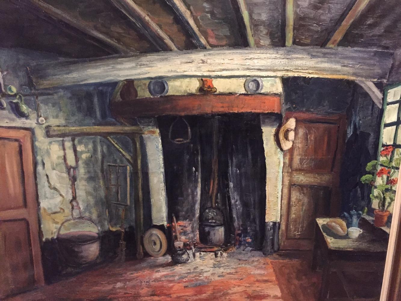 Old Flemish interior