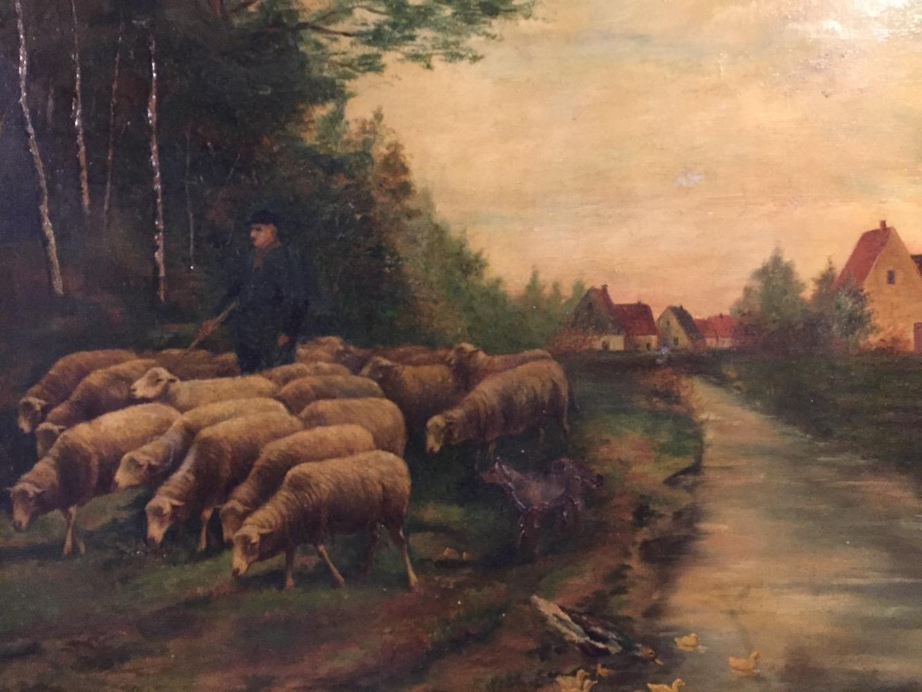 Shepherd with his sheep