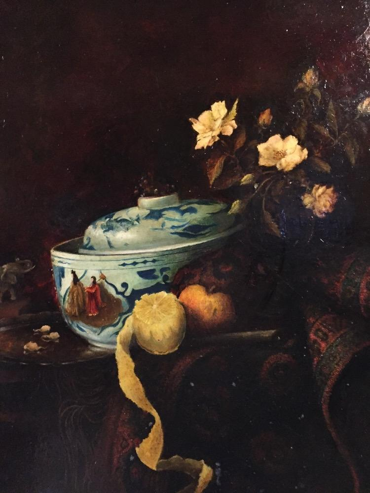 Stillife with fruit and flowers