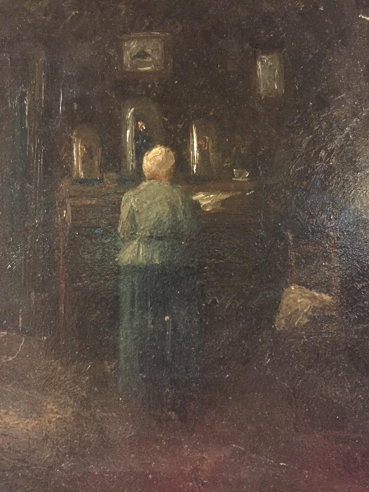 Woman in an interior