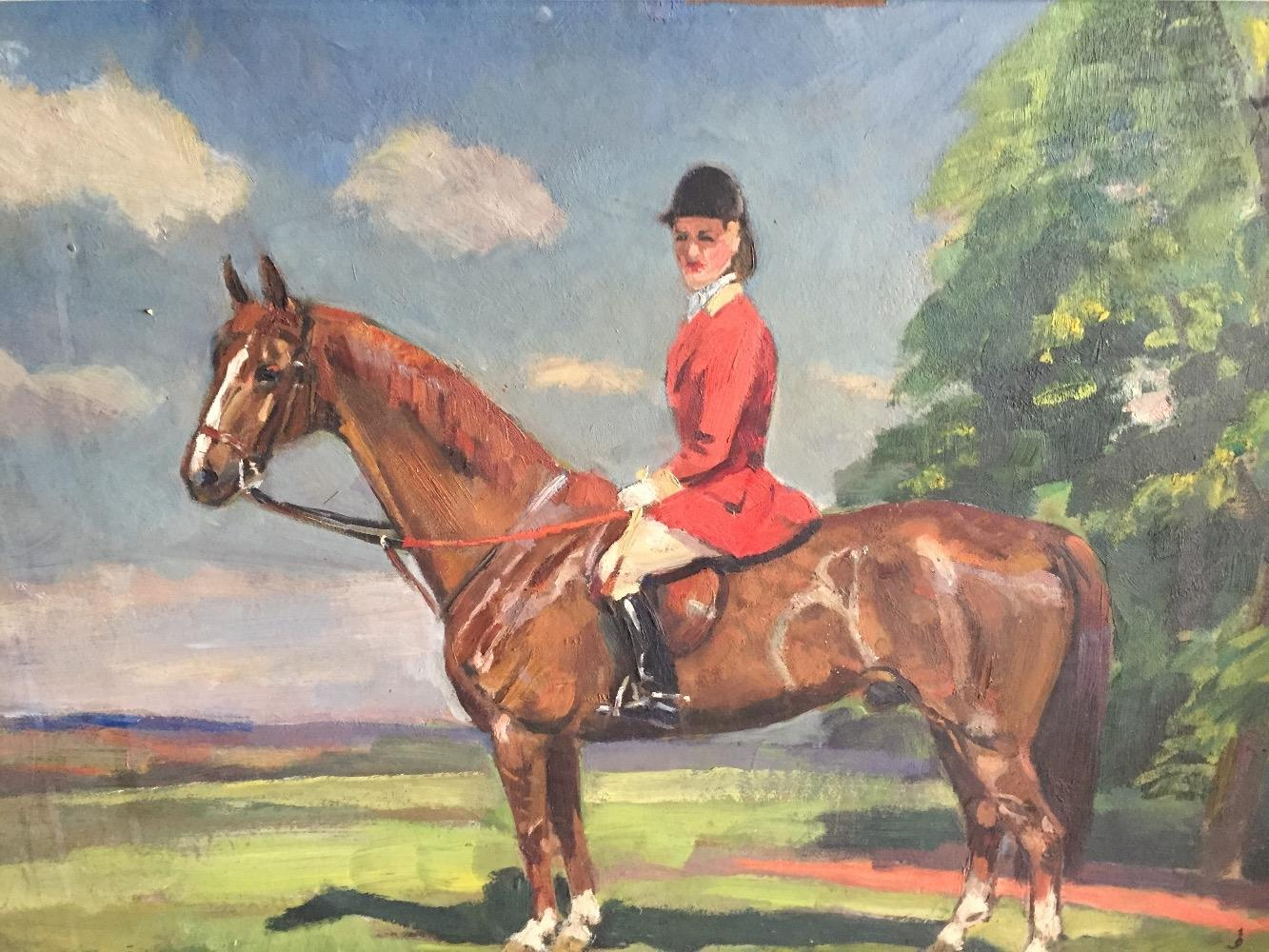 The female jockey