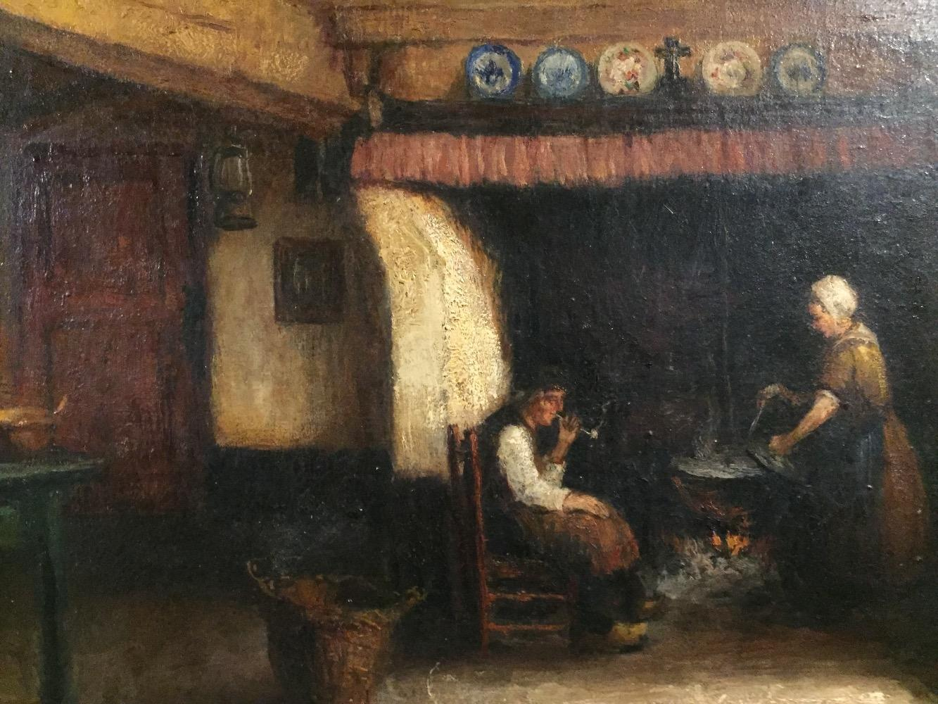 Woman and man in the kitchen