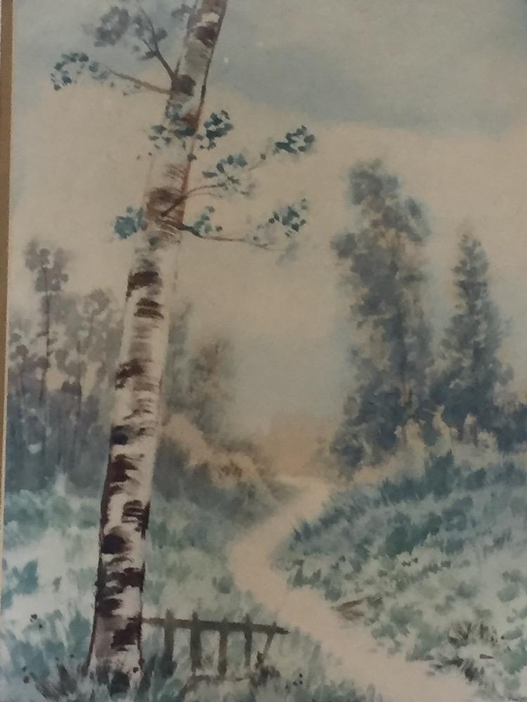 A pair of forest scenes