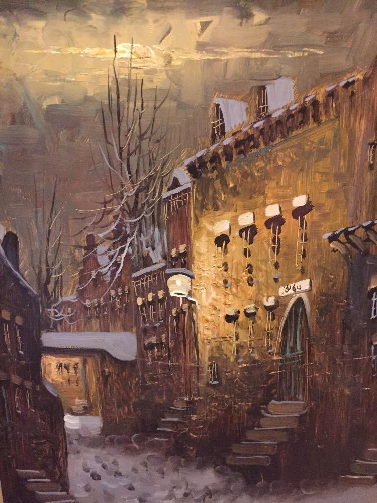 Dutch town in the wintertime