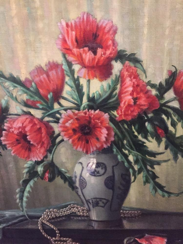 Stillife with red flowers