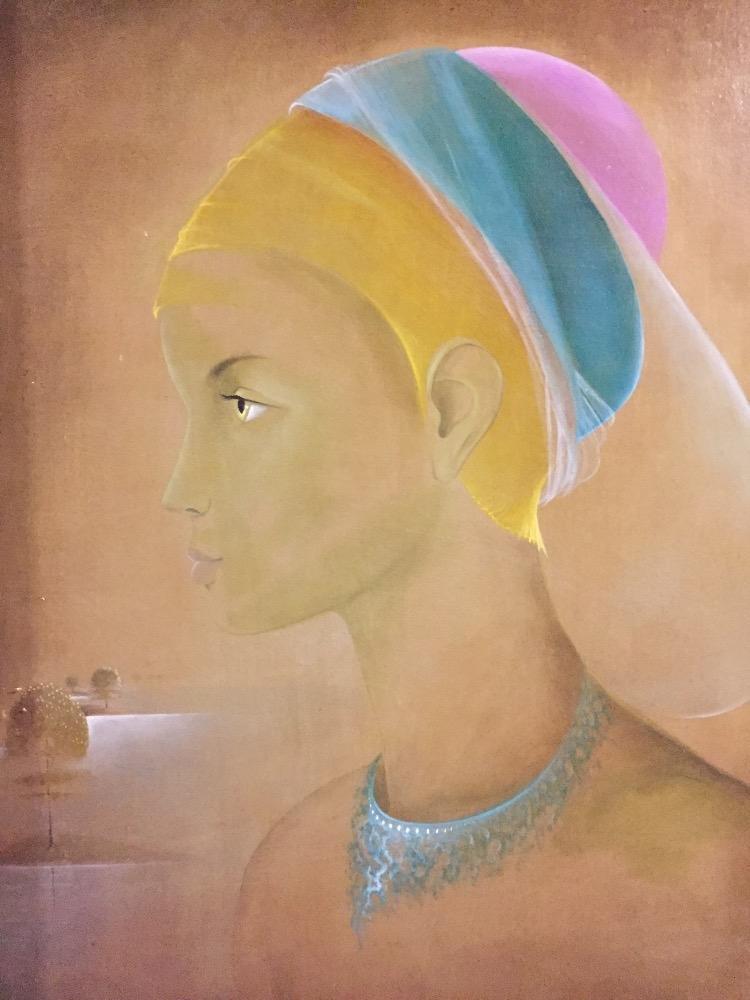 Eugene Demaene - Mysterious girl - Oil on canvas - Guyart