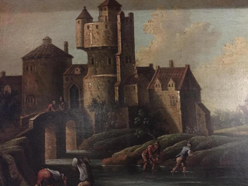 Fishermen at the castle