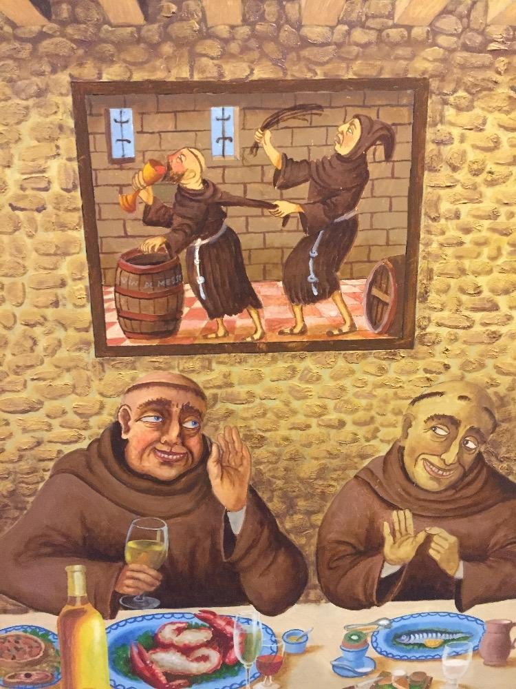 Partying monks