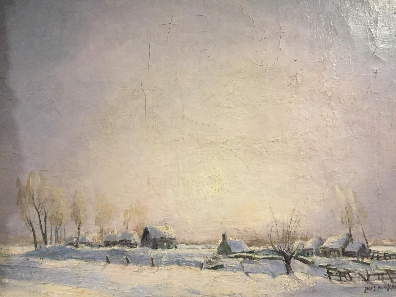 Farms in the snow