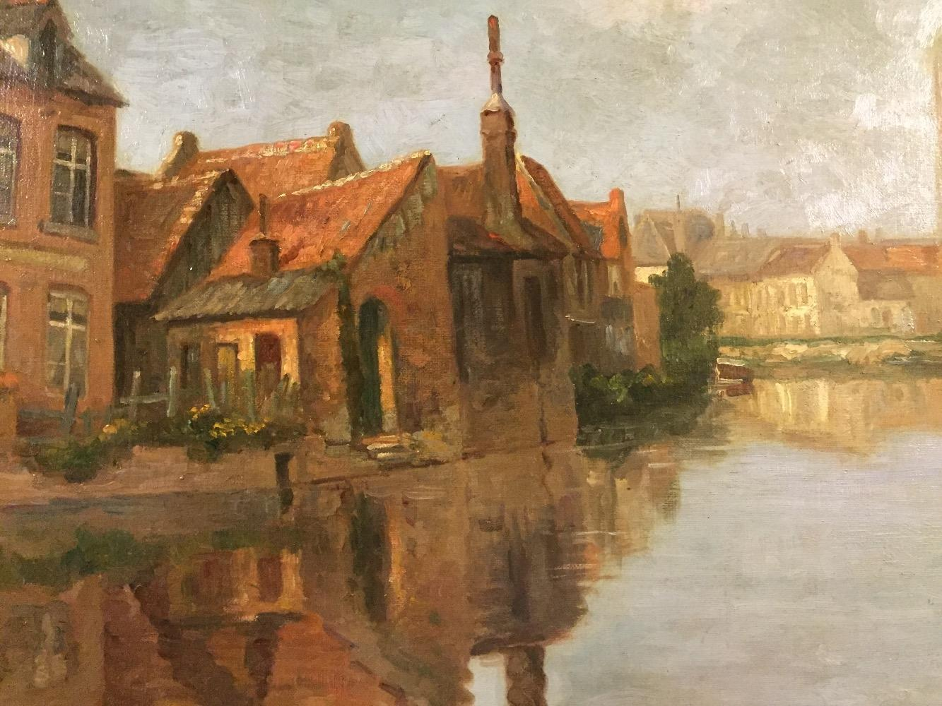 Houses at the canal in Bruges